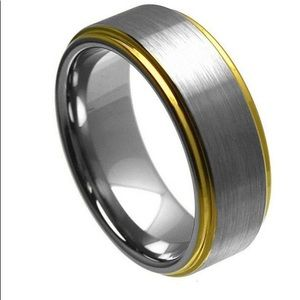 Other - Yellow and silver tungsten ring.